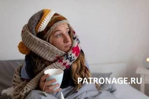 девушка болеет зимой